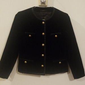 OXFORD  QUNCY BLACK velvet jacket